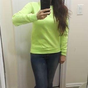 Tops - Neon yellow sweatshirt NWOT